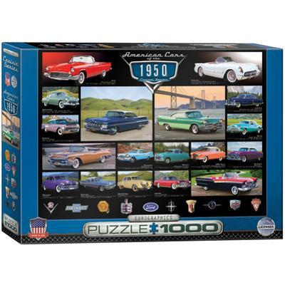 American Cars of the 1950s 1000 Piece Puzzle