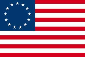 American Colonial National Flag Plastic Sign