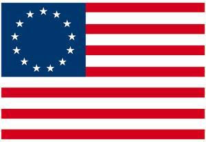American Colonial National Flag Poster Print