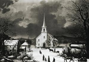 American Country Church in Winter