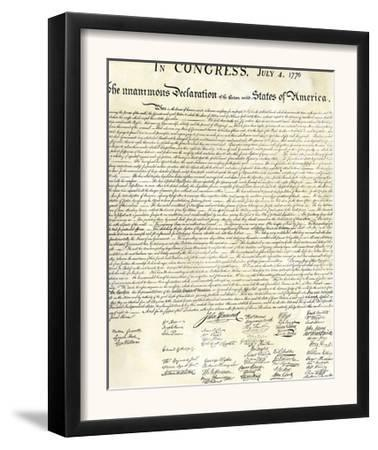 American Declaration of Independence, c.1776