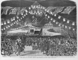 American Engraving Torchlight Parade for the Inauguration of President Rutherford B. Hayes