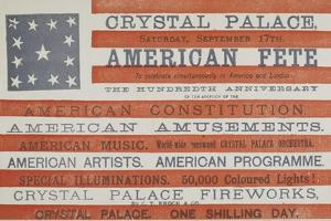 American Fete at Crystal Palace, Saturday, September 17th