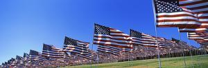American Flags in Memory of 9/11, Pepperdine University, Malibu, California, USA