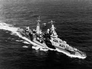 American Heavy Cruiser Uss Indianapolis at Sea