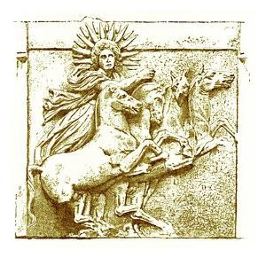 Helios Upon His Chariot, Illustration from 'History of Greece' by Victor Duruy, Published 1890 by American