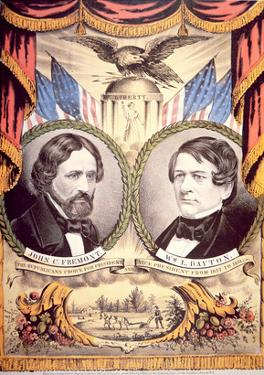 John Charles Fremont's Republican Party Poster, 1856 (Colour Litho) by American
