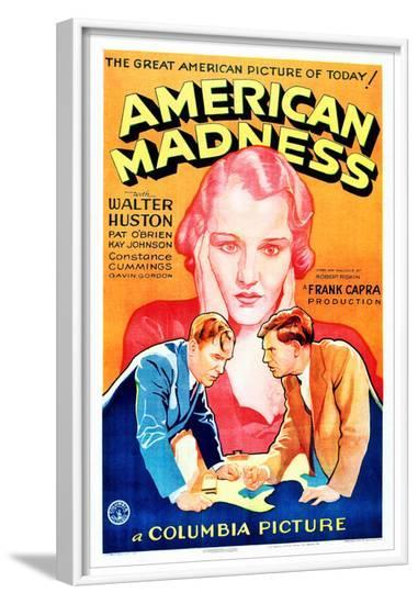 American Madness, 1932--Framed Photo