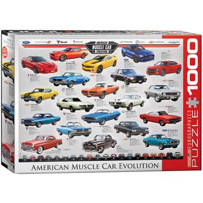American Muscle Car Evolution 1000 Piece Puzzle