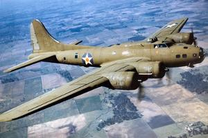 A Boeing B-17 Flying Fortress, 1944 by American Photographer