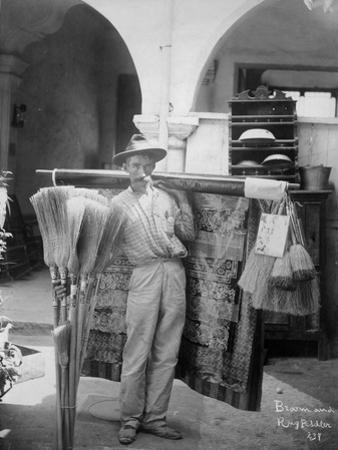 Broom and rug peddler in Cuba, c.1900 by American Photographer