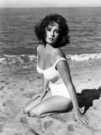 Elizabeth Taylor in 'Suddenly, Last Summer', 1959 (b/w photo) by American Photographer