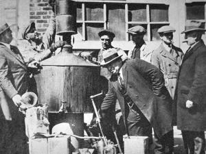 Federal Us Agents Discover an Illegal Alcohol Still During the American Prohibition (1920-33) by American Photographer