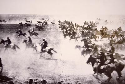 Homesteaders Rushing into the Cherokee Strip, 16th September 1893 (B/W Photo)