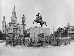 Jackson Square, New Orleans, C.1890 (B/W Photo) by American Photographer