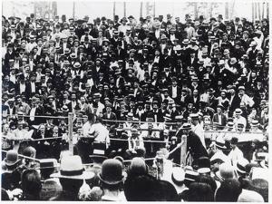 John L. Sullivan V. Jake Kilrain at Richburg, Mississippi on 18th July, 1889 by American Photographer