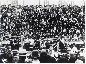 John L. Sullivan V. Jake Kilrain at Richburg, Mississippi on 18th July, 1889 by American Photographer