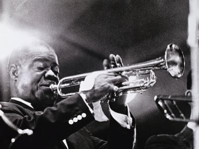 Louis Armstrong (1900-71) by American Photographer