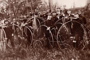 Meeting of Cyclists, c.1900 by American Photographer
