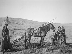 Native American Cree People of Western Canada, C.1890 by American Photographer