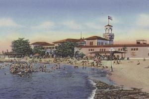 Playa De Marianao, Marianao Bathing Beach by American Photographer