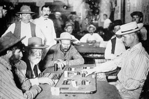 Playing Faro in a Saloon at Morenci, Arizona Territory, 1895 by American Photographer
