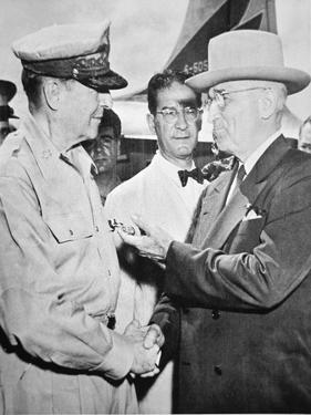President Harry S. Truman (1884-1972) Meeting General Douglas Macarthur (1880-1964) by American Photographer