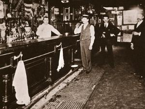 Steve Brodie in His Bar, the New York City Tavern by American Photographer