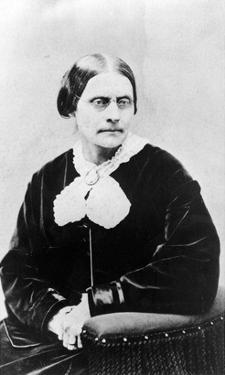 Susan Brownell Anthony (1820-1906) C.1871 (B/W Photo) by American Photographer