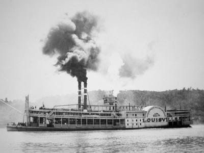 The 'City of Louisville' Steamboat on the Ohio River, C.1870 by American Photographer