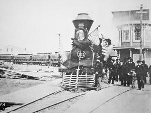 The Funeral Train Carrying President Lincoln's by American Photographer