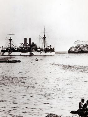 The Uss Maine Entering the Port of Havana, Cuba, 1898 (B/W Photo) (See 206526, 206527) by American Photographer