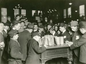 Trading at the Cash Tables Wheat Pit, Chicago, 1931 by American Photographer