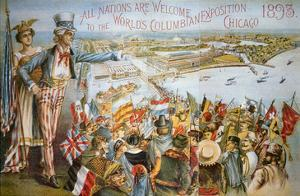 Poster Advertising the World's Columbian Exposition, Chicago 1893 (Colour Litho) by American
