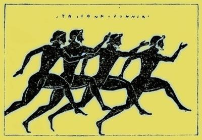 Race, Illustration from 'History of Greece' by Victor Duruy, Published 1890 by American
