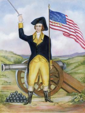 American Revolutionary Patriot at Post