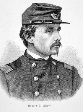 Robert Gould Shaw (1837-63) (Engraving) by American