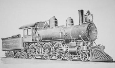 A Schenectady Locomotive by American School