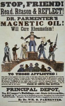Advertisement for 'Doctor Parmenter's Magnetic Oil', 1840S by American School