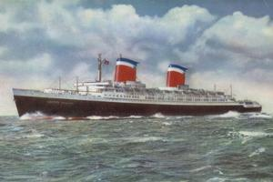 American Ocean Liner Ss United States by American School