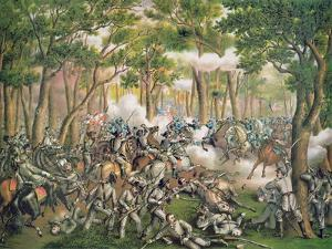Battle of the Wilderness, May 1864, Engraved by Kurz and Allison, 1887 by American School