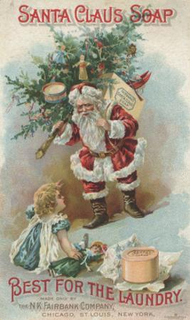 Best for the Laundry', Advertisement for Fairbank's Santa Claus Soap, C.1880 by American School