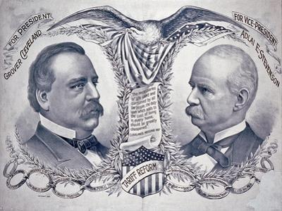 Democratic presidential campaign poster, 1892 by American School