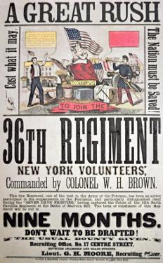 Federal Recruiting Poster for the 36th Regiment, New York Volunteers by American School