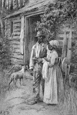 Field Workers Oustside their Cabin, 1886 by American School