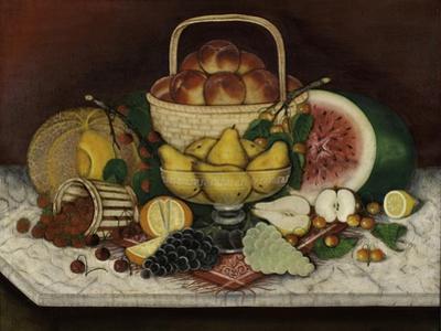 Fruit on Marble, 1865 by American School