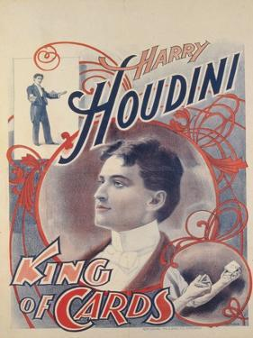 Harry Houdini, King of Cards, 1895 by American School