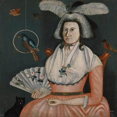 Lady with Her Pets , 1790 by American School
