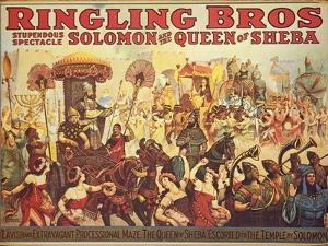 Poster Advertising the 'Ringling Bros.' Circus, c.1900 by American School