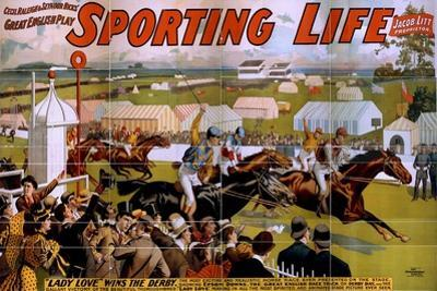 """""""Sporting Life"""" poster, 1898 by American School"""